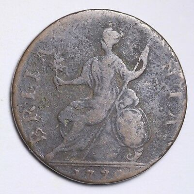 1770 Farthing Great BritainNice World Coin Free Shipping