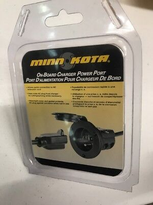 Minn-Kota MKR-21 AC Extension Cord Power Port for On-Board Boat Charger Black