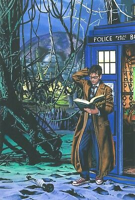 DOCTOR WHO 10th DOCTOR ORIGINAL COVER ART - TITAN COMICS!