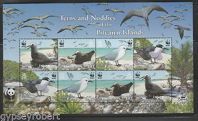PITCAIRN ISLANDS  Queen Elizabeth Era 2007 Endangered Species. Terns and Noddies