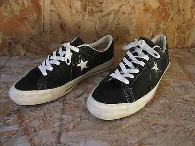 Vtg Mens Converse One Star Low Made in USA Shoes Sz 9.5 Black Suede