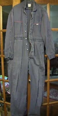 Vintage Old LEE UNION - ALLS Sanforized  Union Made Blue Cover Alls Red Piping