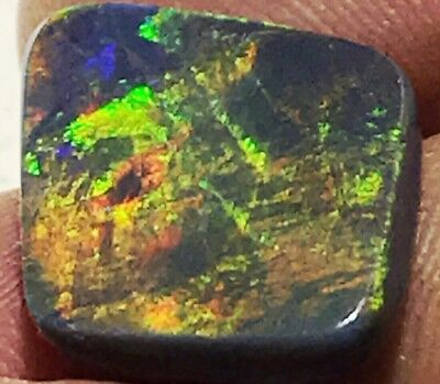 Bright 6.1 Carat, Solid Lightning Ridge Black Opal