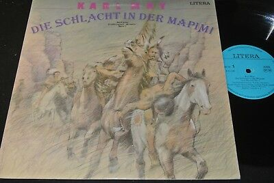 KARL MAY Die Schlacht in der Mapimi / DDR LP 1987 LITERA 865398 (1D-Matrix)