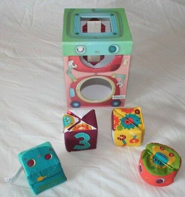 Baby Toys Assortment Lilliputiens Shape Sorter And Moulin Roty Soft Toys