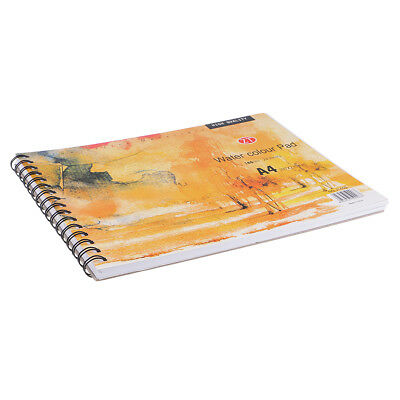 A4 Water Colour Pad Watercolor Sketch Pad Hard Back Artist White Paper Book