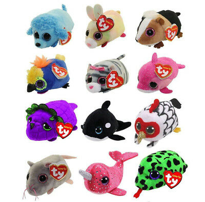 2018 TY Beanie Boos SET OF 12 Teeny Tys Stackable Plush w/ MWMT's Ty Heart Tags