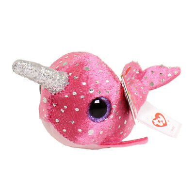 """TY Beanie Boos Teeny Tys 4"""" Nelly Narwhal Stackable Plush Stuffed Animal MWMT's"""