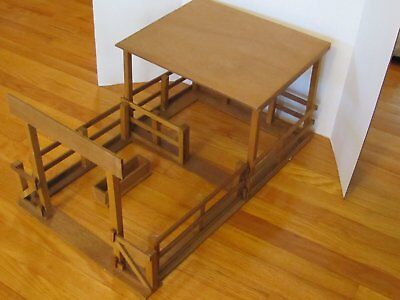 Walco Toy Co - Complete wooden horse corral kit used with Breyer models