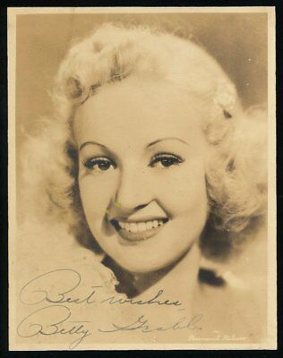 Betty Grable signed 5x7 vintage photo with LOA + bonus Claudette Colbert!!!