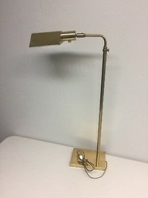 Vintage stiffel brass pharmacy adjustable floor lamp reading 2 way vintage floor lamp desk study reading light antique gold brass arm adjustable aloadofball Images