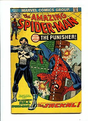 Amazing Spider-Man #129 VINTAGE Marvel Comic MEGA KEY 1st Punisher Bronze 20c