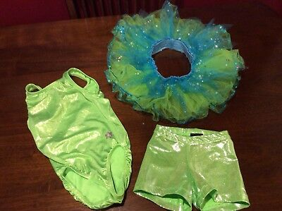 Girls Size Small Leotard, Shorts And Tutu in EUC