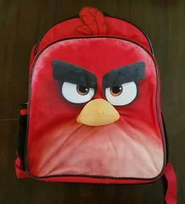 """Angry Birds Boys Backpack Red Bird 16"""""""