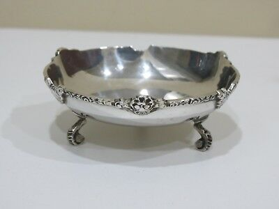 Antique Vintage sterling silver footed bowl w/ Egyptian Sterling hallmarks