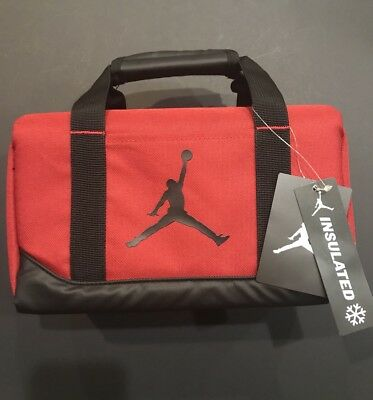 45fa1ca5252c62 NWT NIKE AIR JORDAN Jumpman Red  Black Insulated Lunch Box   Tote ...