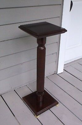 Antique Style The Bombay Company Corinthian Column Wood And Brass Plant Stand