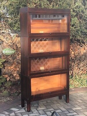 Antique Globe Wernicke 4 Stack Barrister Bookcase