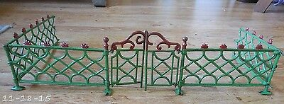 Victorian Cast Iron Christmas Tree Fence With Gates Section