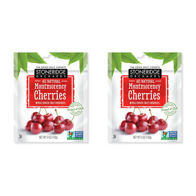 2X Stoneridge Orchards Montmorency Cherries Whole Dried Fruit Tart Gluten Free