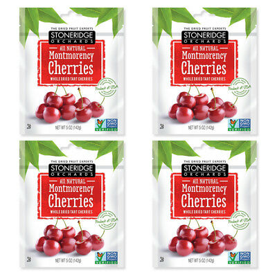 4X Stoneridge Orchards Montmorency Cherries Whole Dried Fruit Tart Gluten Free