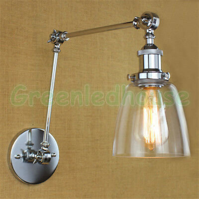 Double-arms Vintage Wall Light Fixture Retro Wall Sconce Glass Bedside Hallway