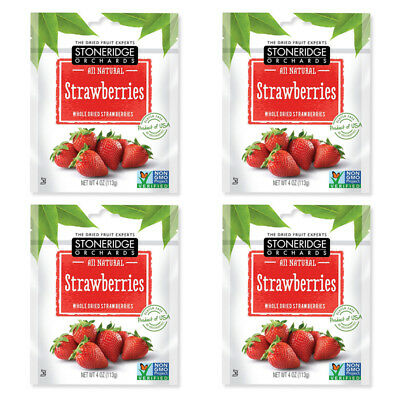 4X Stoneridge Orchards Strawberries Whole Dried Fruit Gluten Free All Natural