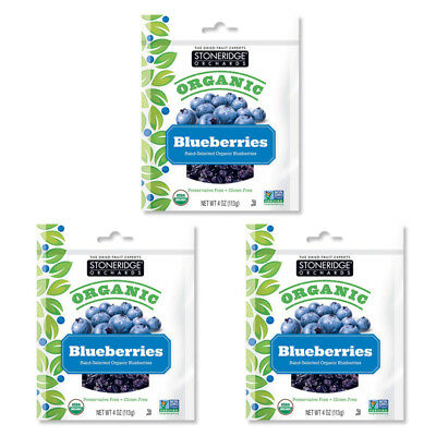 3X New Stoneridge Orchards Blueberries Whole Dried Fruit Gluten Free All Natural