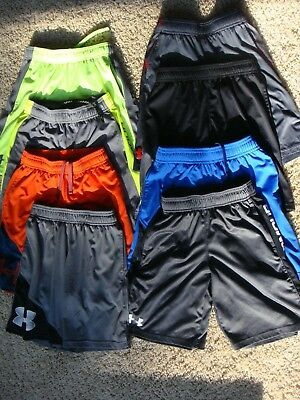 BOYS UNDER ARMOUR Shorts Size Youth Small  YSM ***8 PAIRS***! LOT of UA!