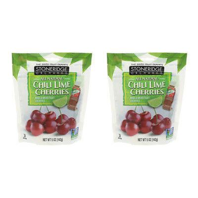 2X Stoneridge Orchards Chill Lime Cherries Whole Dried Fruit Gluten Free Daily