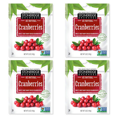 4X Stoneridge Orchards Cranberries Sweet & Tangy Dried Fruit Gluten Free Daily
