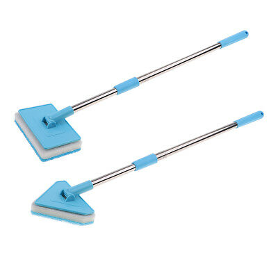 Retractable Fish Tank Aquarium Glass Brush Cleaning Tool with Long Handle