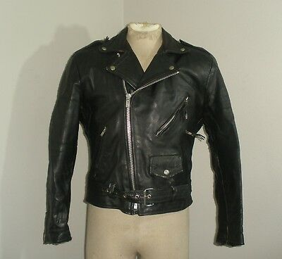 Vintage 80s 90s Wilsons Wilson's LEATHER Thinsulate Biker Motorcycle Jacket M