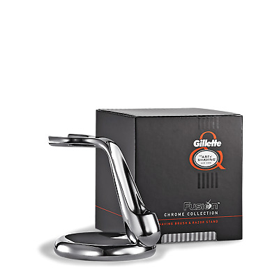 The Art Of The Shaving FUSION CHROME COLLECTION SHAVING RAZOR AND BRUSH STAND
