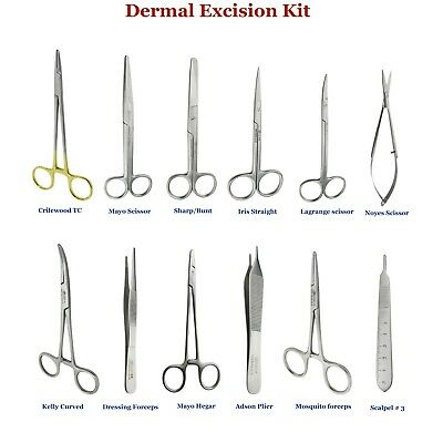 Dental Surgical Tools Kit Mayo Iris Spring Scissor kelly Adson forceps Crilewood