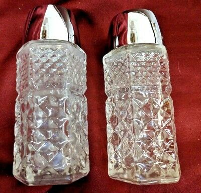 Vintage Rare salt and pepper shakers by Gemco stainless steel U.S.A