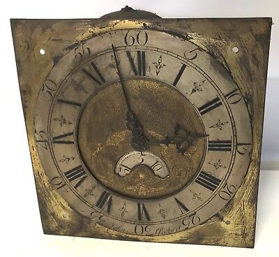 Early Brass Dial And Movement For Long Case Grandfather Clock John Roberts 30hr