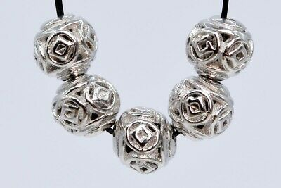 10 Pcs 8MM Silver Tone Ancient Chinese Coin Round Spacer Beads