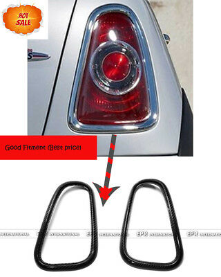 New Carbon Rear Taillight Light Surround Cover For MINI Cooper S/ONE R53 01-06