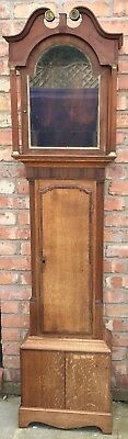 Lovely Antique Cross Banded Long Case Grandfather Clock Case