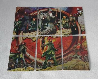 Topps Lord of the Rings Masterpieces Etched Foil Trading Card Set