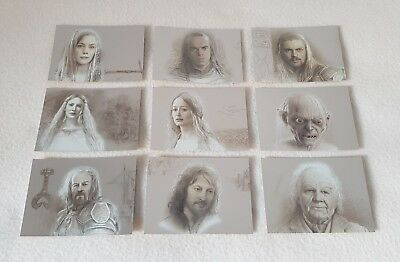 Topps Lord of the Rings Masterpieces Series II Silver Foil Trading Card Set