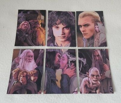 Topps Lord of the Rings Masterpieces Series II Etched Foil Trading Card Set