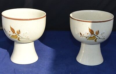 Two Royal Doulton Lambethware Wild Cherry Ls1038 Goblet Style Footed Bowl