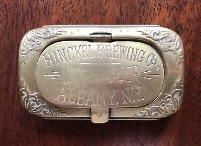 Vintage Hinckel Brewing Co. Albany, New York Stamp Holder And Match Striker Box