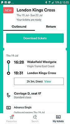 tickets wakefield to london
