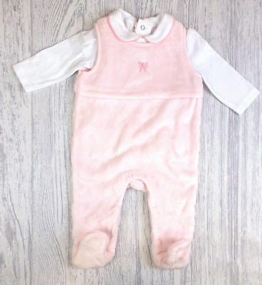 Girls minky all in one winter dungaree outfit 0-3-6-9 months baby shower gift