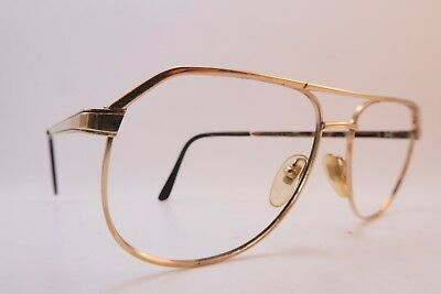 Vintage 70s eyeglasses frames gold filled MOREL Doublé Or Laminé 56-16 France