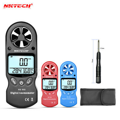 NKTECH NK-W0 LCD Digital Anemometer Air Wind Speed Meter Humidity Thermometer
