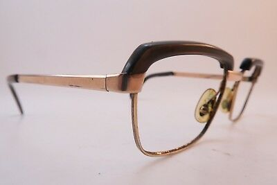 Vintage 60s gold filled eyeglasses frames size 48-18 mens small